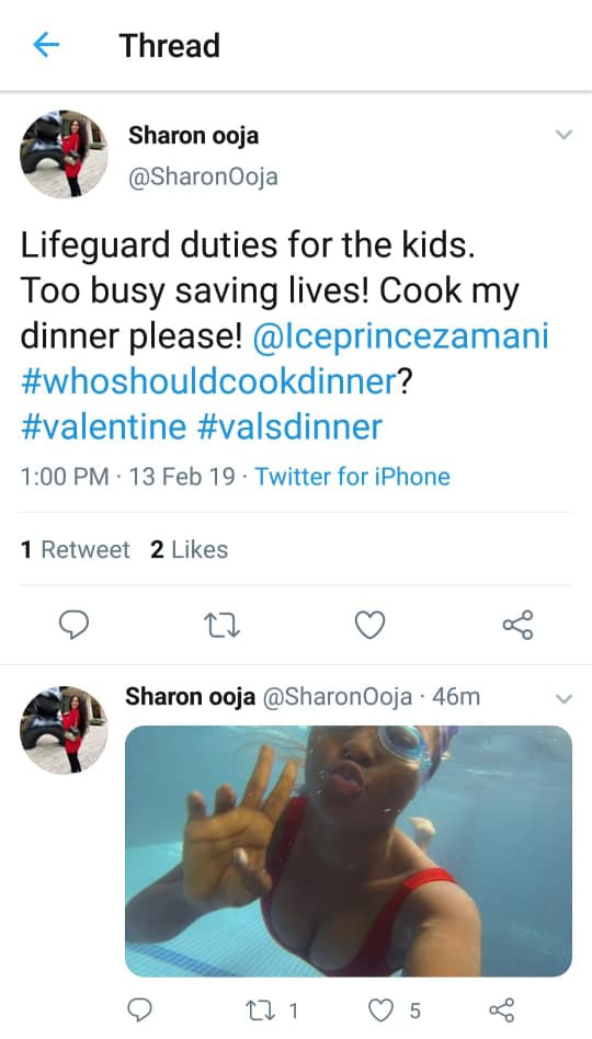 Celeb couples Iceprince and Sharon Ooja, hilariously drag each other over who should cook dinner