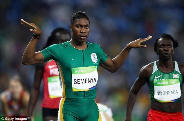 Olympic champion and intersex athlete Caster Semenya