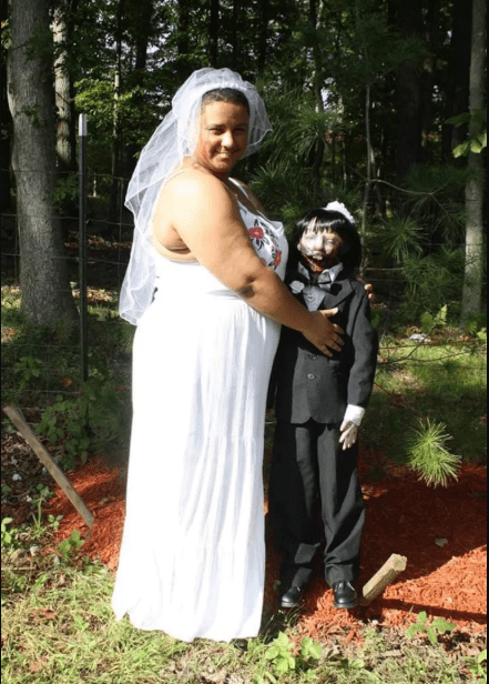 Woman gets married to her zombie doll and they