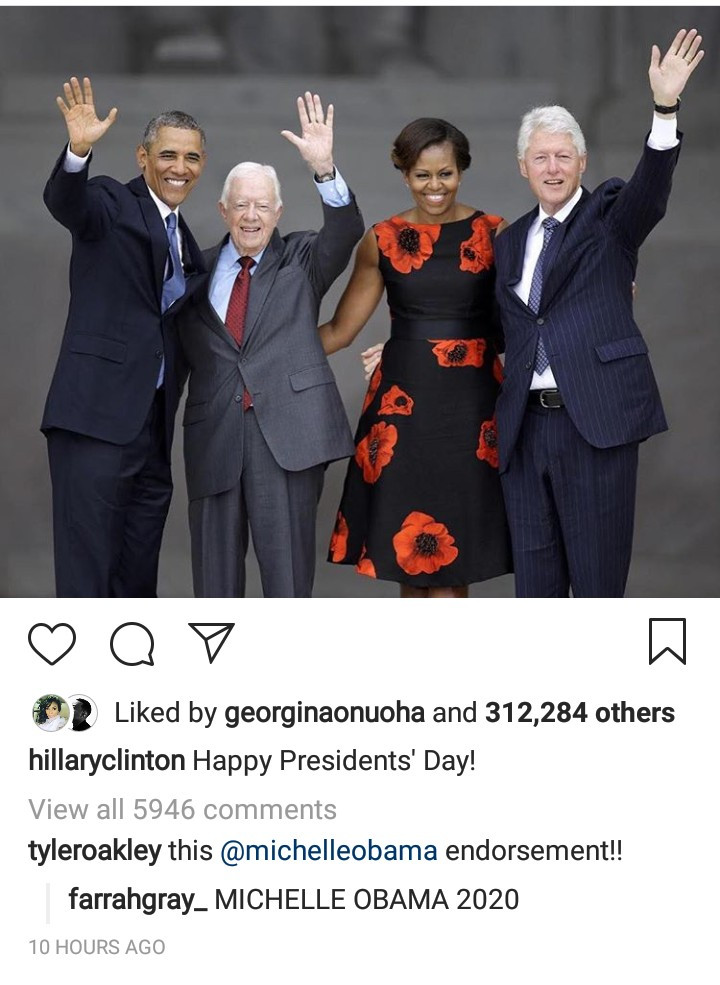 Hillary Clinton throws subtle shade at Trump with her Presidents' Day message