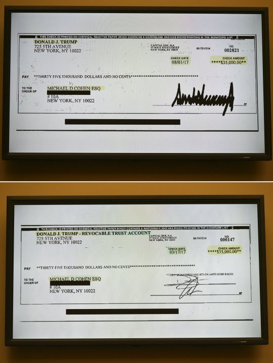 Cheque that proves Donald Trump indeed paid Stormy Daniels hush money has been released