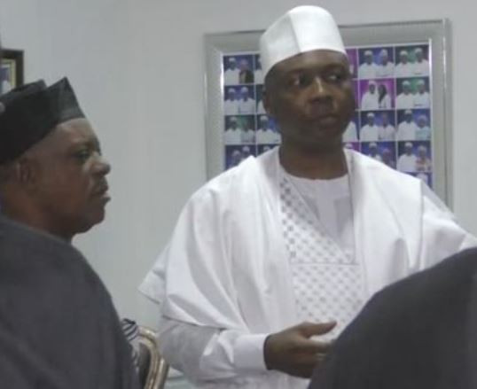 National peace committee meets PDP presidential candidate, Atiku Abubakar, Peter Obi and Bukola Saraki (Photos)