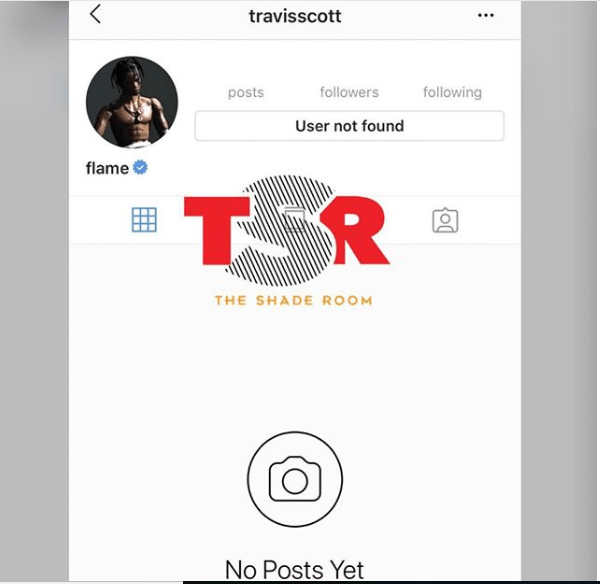 Travis Scott deletes his Instagram account after he denies cheating on Kylie Jenner