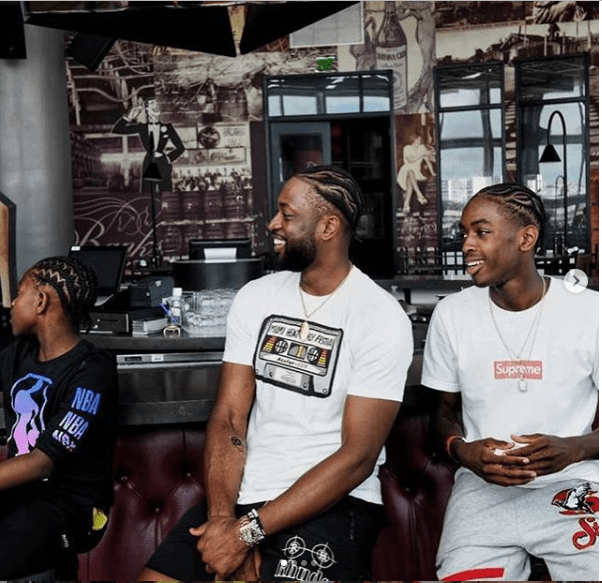 Dwyane Wade and his sons show off their matching braided hairstyles (Photo)