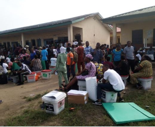 Image result for INEC Adhoc Staff refuse to work in Lagos, insist allowances must be paid