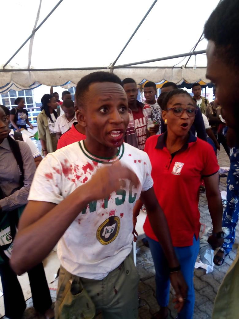 Video: Youth Corps member beaten up in Lagos
