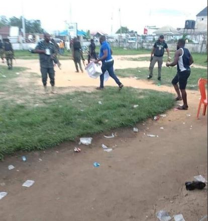 Deji Adeyanju shares photos of what security agencies allegedly did in Rivers State during the election