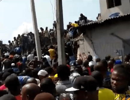 Breaking: Pupils feared dead as school building collapses in Lagos (photos/video)