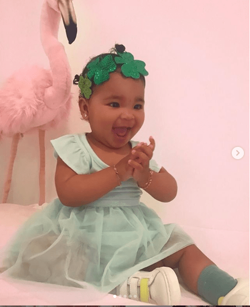 Khloe Kardashian shares adorable photos of her daughter True as she celebrates first St. Patrick