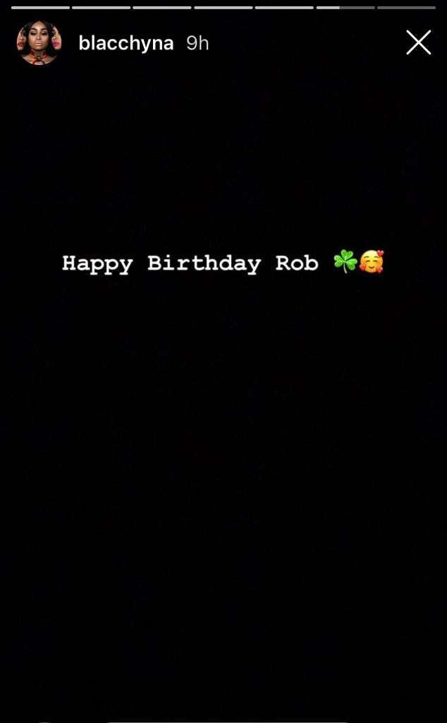 Blac Chyna celebrates her ex-Rob Kardashian on his 32nd birthday?