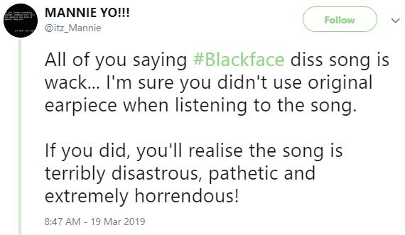 """#Blackface """"War"""" diss song"""