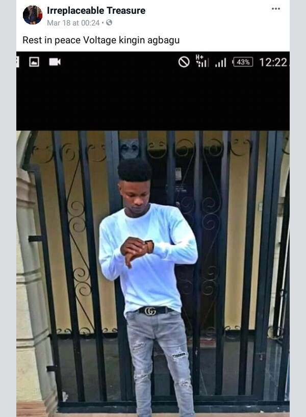 Photos: Young man allegedly shot dead by rival cult group in Delta state