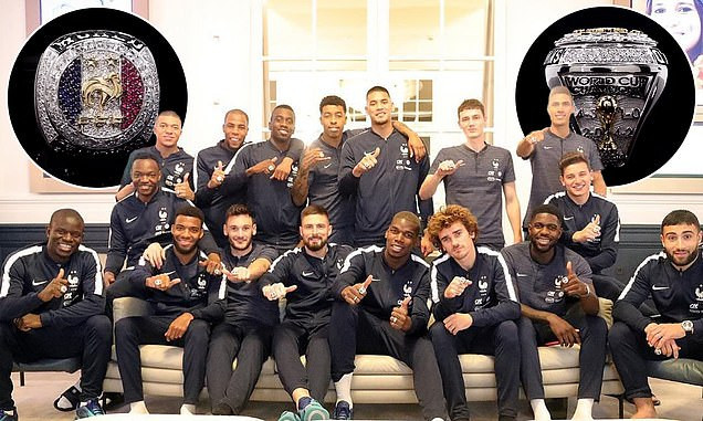 Manchester United star Paul Pogba buys World Cup championship rings for the entire France team (Photos)