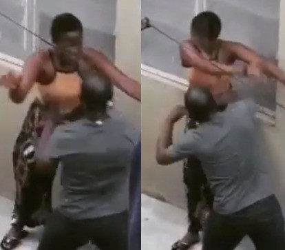 JAMB lesson teacher filmed physically assaulting one of his female students in Lagos (video)