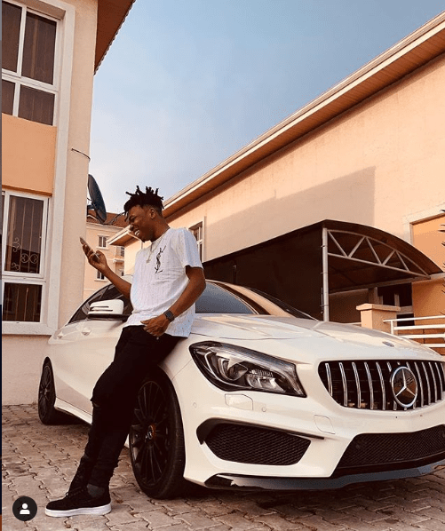 Singer, Mayorkun buys himself a brand new Mercedes-Benz CLA-Class ahead of his 25th birthday (Photos)
