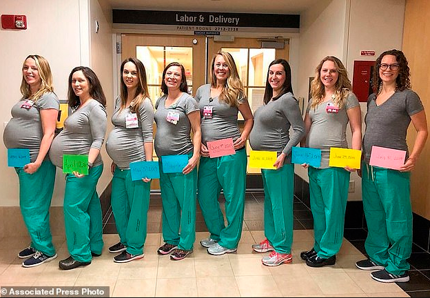 Nine nurses in the same labour unit are all pregnant at the same time