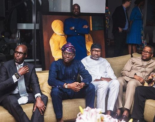 Check out this photo of Sanwo-Olu, Dangote, Otedola, Folawiyo and Olorunnimbe