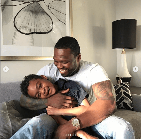 Daddy Duties: Rapper 50 Cent spends good quality time with his younger son Sire Jackson (Photos)