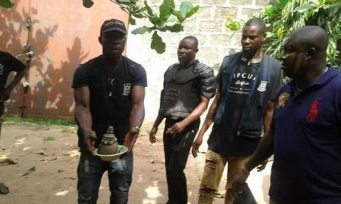 Suspected female kidnapper and her male accomplices caught in Delta?(Photos)