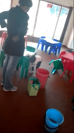 Outrage as South African teacher is filmed brutalizing a child because she vomited in class (video)