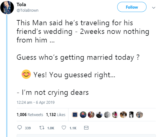Lady hospitalized after she discovered her boyfriend just got married to someone else today