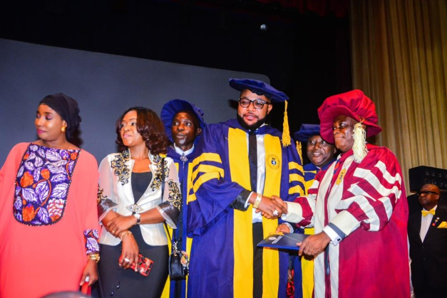 Photos: E-Money bags Honorary Doctorate Degree in Business Management and Corporate Governance