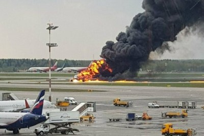 Death toll rises to 41 after plane erupted in flames during emergency landing in Moscow