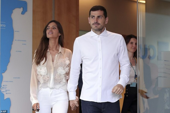 Legendary goalkeeper, Iker Casillas discharged from hospital after suffering heart attack during Porto training (Photos)