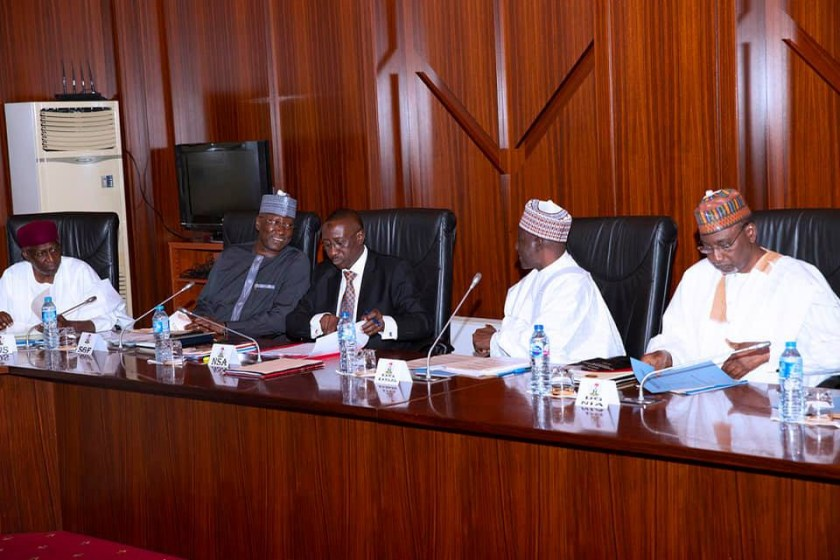 Photos: President Buhari receives Security Briefing in State House