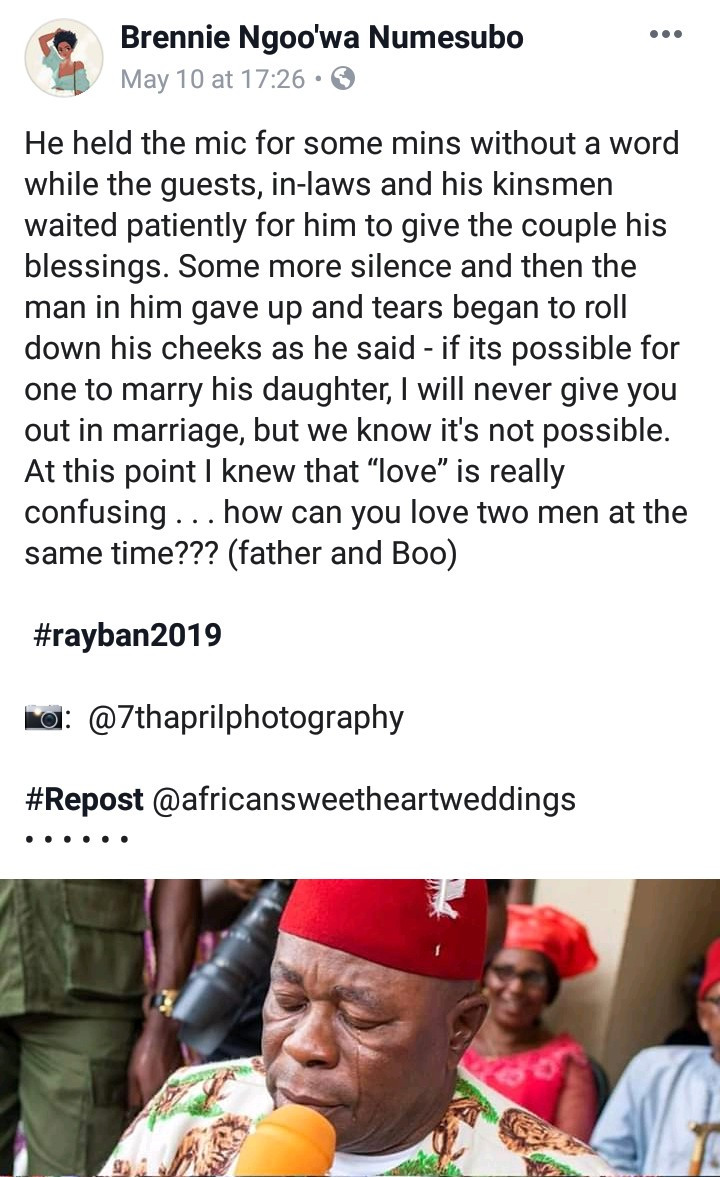 Dad breaks down in tears and utters the sweetest words as he gives his daughter away in marriage