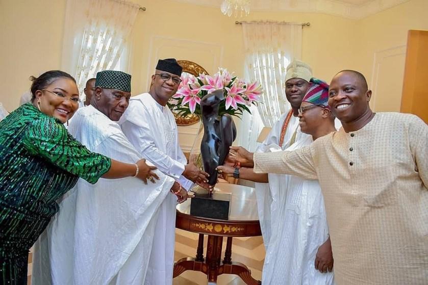 Ooni Of Ife pays?courtesy visit to Ogun state Governor elect, Dapo Abiodun (Photos)