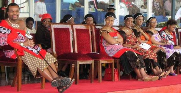 King Mswati of Swaziland who has 15 wives orders men in his country to marry more than two wives or face Jail