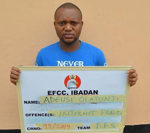 Nigerian criminologist, Adeusi Olatunji jailed for Internet fraud (Photo)