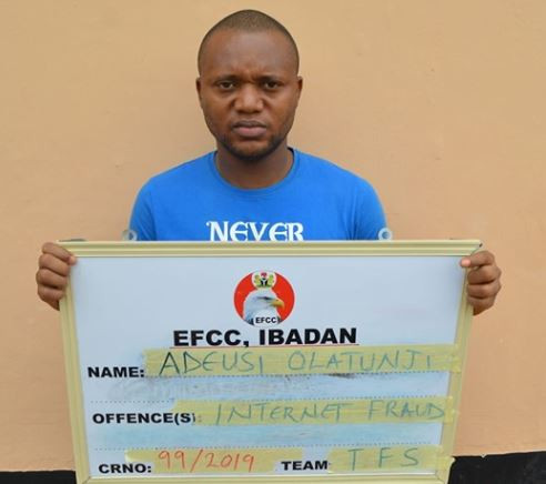 Nigerian criminologist, Adeusi Olatunji jailed for Internet fraud (Photo)