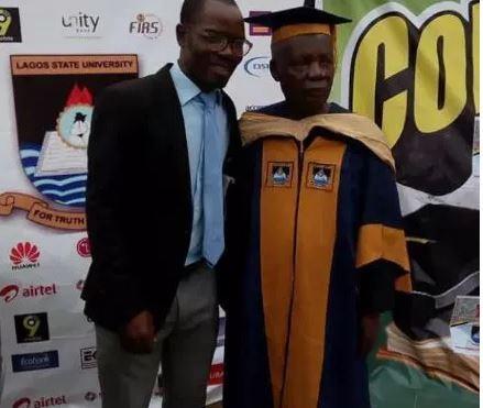Photos:?80-year old man bags Msc degree form Lagos State University