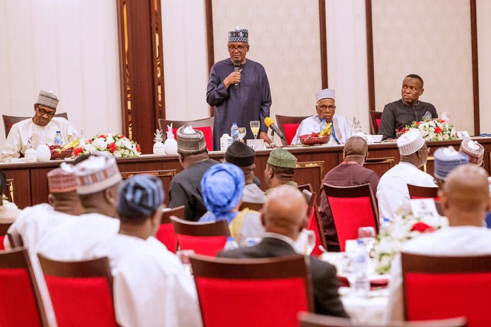 President Buhari hosts business community and APC NWC to break of Ramadan fast at the?state house?