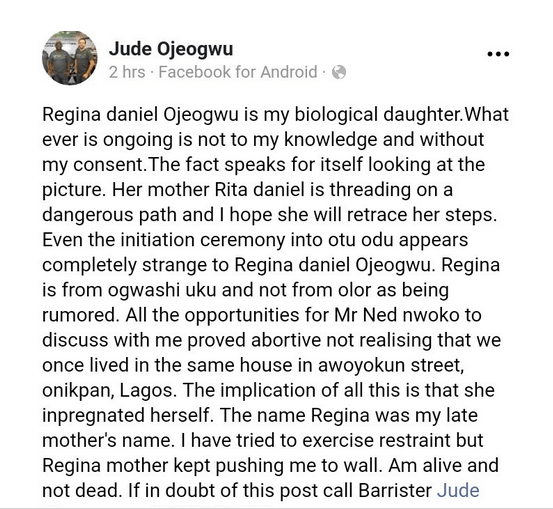 """""""Whatever is going on is without my support"""" Regina Daniels"""