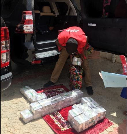 4 bags containing Sixty Million Naira recovered from Zamfara State's SSG's brother