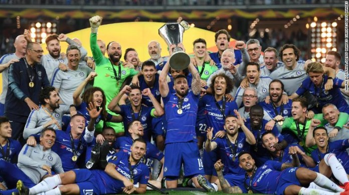 Chelsea thrash helpless Arsenal 4-1 to win Europa League Final (Photos)
