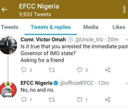 Efcc Denies Arresting Okorocha