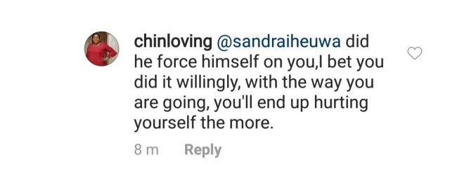 From the table of Sandra Iheuwa, the lady claiming to be expecting Ubi Franklin