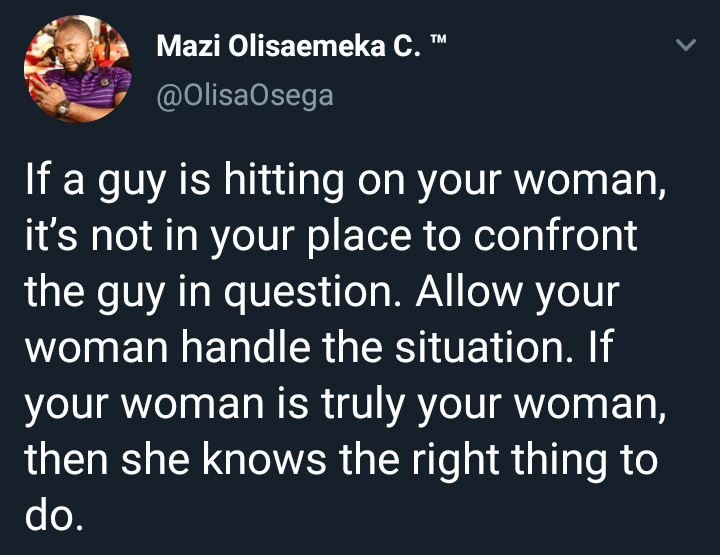 Guys, how will you react if another guy makes a move on your woman?