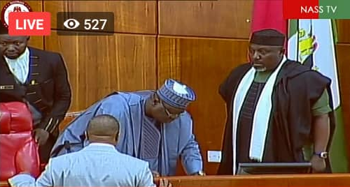 Photos: Rochas Okorocha sworn-in as Senator