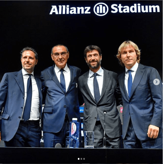 Ex-Chelsea coach Maurizio Sarri officially unveiled as new Juventus manager (Photos)