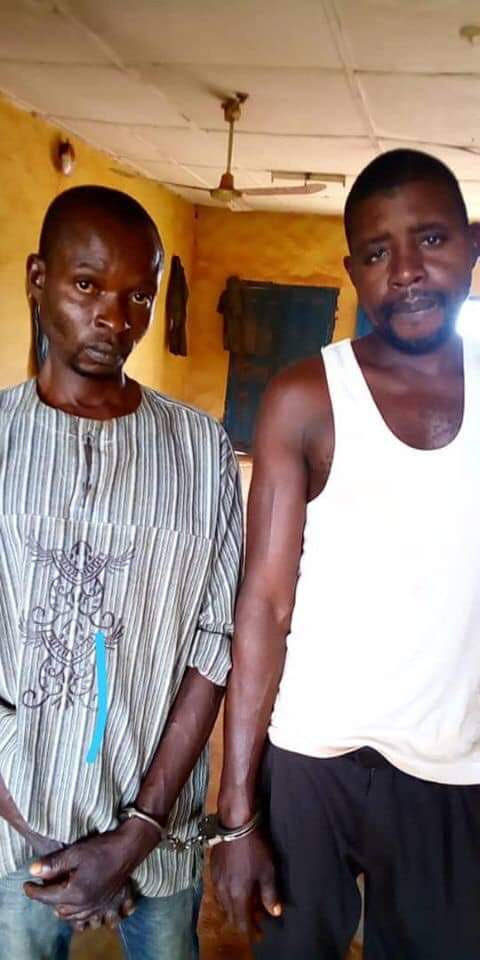 Photo: Police parade two men who raped mentally challenged 23-year-old woman in Anambra