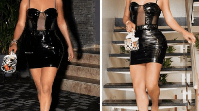 Photos: Check out Toke Makinwa's sexy look to Rita Dominic's birthday party