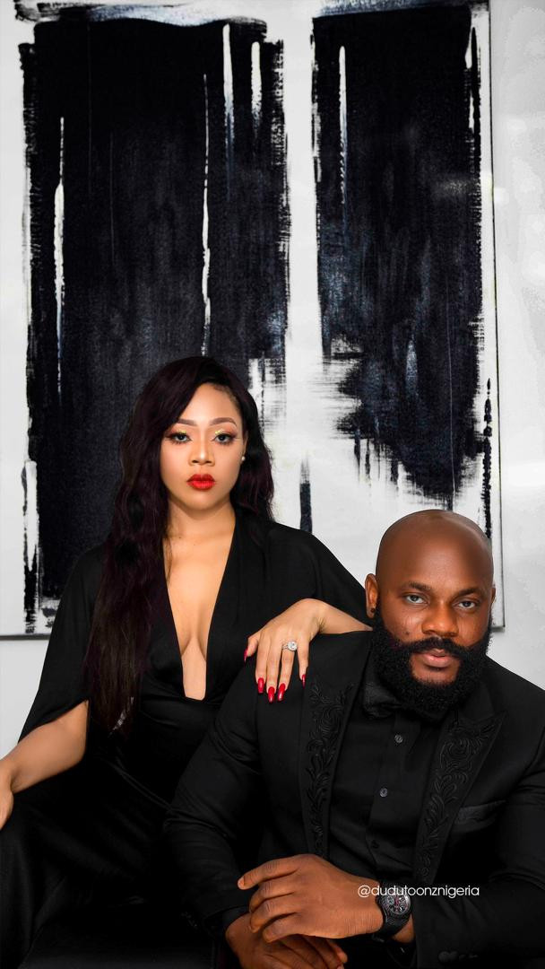 Check out stunning pre-wedding photos of Nigerian Nightlife king, Dayo Lascatter and his fiancee, Diana Faith