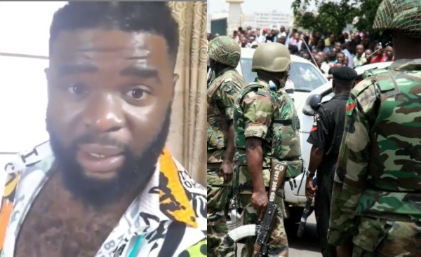 Nigerian man accuses soldiers of assaulting and forcefully shaving off his hair with scissors in Aba (video)