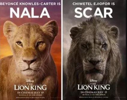 Nala (Beyonce-carter) & SCAR (Chiwetel Ejiofor)