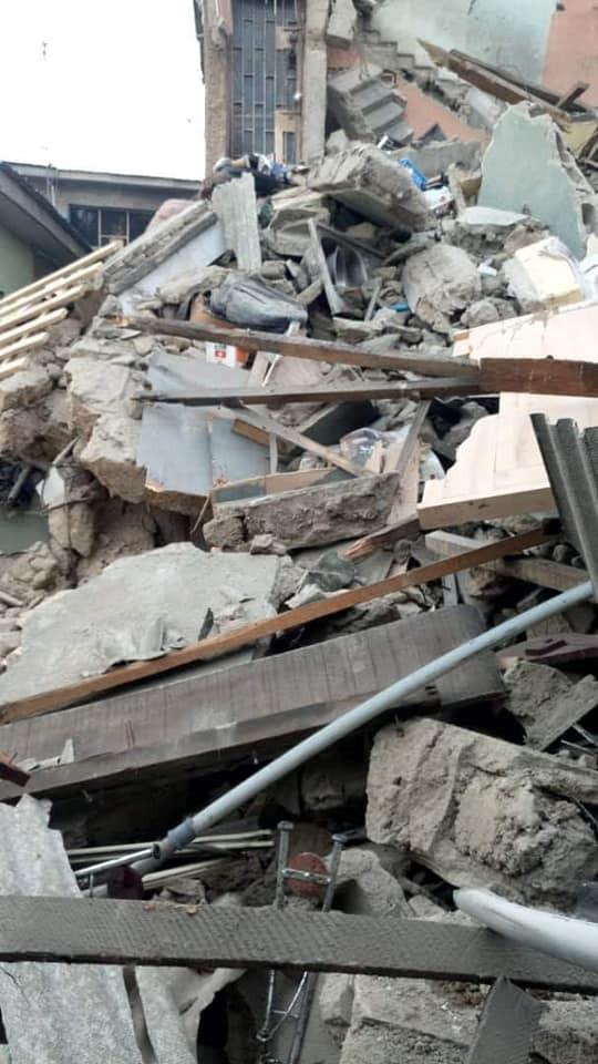 Photos: 2-storey building collapses in Lagos